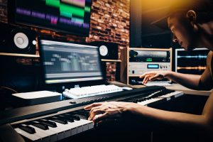 Composing and recording music in a home studio
